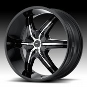 Helo HE891 Gloss Black Chrome Inserts Custom Wheels Rims
