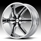 Helo HE891 Chrome with Black Inserts Custom Wheels Rims