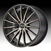 Helo HE894 Machined Satin Black Tinted Clearcoat Custom Wheels R