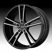 Helo HE899 Machined Black with Inserts Custom Wheels Rims