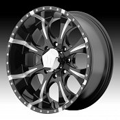 Helo HE791 Maxx 8-Lug Black w/ Milled Accents Custom Wheels Rims