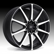 ICW Racing 215MB Banshee Machined Satin Black Custom Rims Wheels