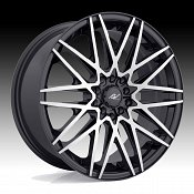 ICW Racing 217MB Sapporo Gloss Black Machined Custom Wheels Rims