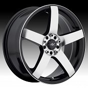 ICW Racing 216MB Mach 5 Gloss Black w/ Machined Custom Wheels Ri