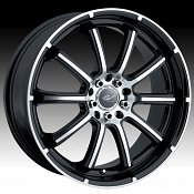 ICW Racing 201MB 201 Taboo Machined Black Custom Rims Wheels - D