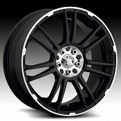 ICW Racing 204MB 204 Shogun Black Machined Custom Rims Wheels -