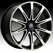 ICW Racing 209MB 209 Euro Machined Black Custom Rims Wheels