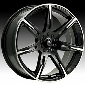 ICW Racing 210MB 210 Kamikaze Matte Black Machined Custom Rims W
