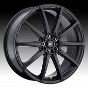 ICW Racing 215B Banshee 215 Satin Black Custom Rims Wheels