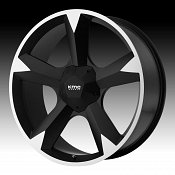 KMC Clone RWD KM674 674 Satin Black Machined Custom Rims Wheels