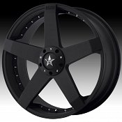 KMC Rockstar Car KM775 775 Matte Black Custom Rims Wheels