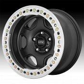 KMC KM233 Hex Beadlock Satin Black Custom Wheels Rims