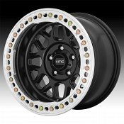 KMC KM235 Grenade Crawl Beadlock Satin Black Custom Wheels Rims