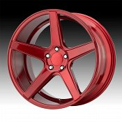 KMC KM685 District Candy Red Custom Wheels Rims