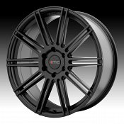 KMC KM707 Channel Satin Black Custom Wheels Rims