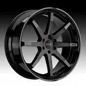 KMC KM715 Reverb Satin Black Gloss Black Custom Wheels Rims