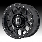KMC XD Series XD127 Bully Satin Black Custom Wheels Rims