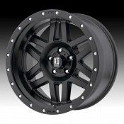 KMC XD Series XD128 Machete Satin Black Custom Wheels Rims