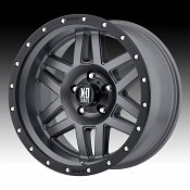 KMC XD Series XD128 Machete Matte Gray Custom Wheels Rims