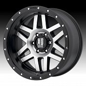KMC XD Series XD128 Machete Machined Black Custom Wheels Rims