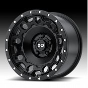 KMC XD Series XD129 Holeshot Satin Black Custom Wheels Rims
