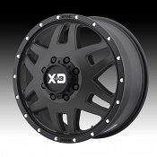 KMC XD Series XD130 Machete Dually Satin Black Custom Wheels Rim