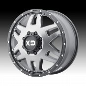 KMC XD Series XD130 Machete Dually Satin Grey Custom Wheels Rims