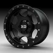 KMC XD Series XD131 RG1 Satin Black Custom Wheels Rims