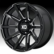 KMC XD Series XD847 Outbreak Gloss Black Milled Custom Wheels Rims