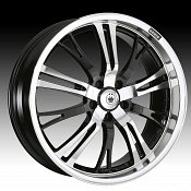Konig Unknown 04MB UN Gloss Black w/ Mirror Machined Face Custom