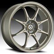 Konig Eco 1 12MT LE Matte Titanium Custom Rims Wheels