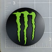 LENS-648B-5-MG / Monster Energy Satin Black Pop-Out Center Cap