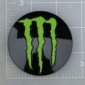 LENS-648MB-5-MG / Monster Energy Gloss Black Pop-Out Center Cap