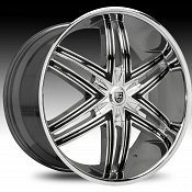 Lexani Advocate Chrome w/ Black Inserts Custom Wheels Rims
