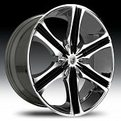 Lexani Arrow Chrome w/ Black Inserts Custom Rims Wheels