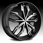 Lexani Arte Gloss Black Machined Custom Wheels Rims