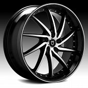 Lexani Artemis Machined Black Custom Wheels Rims
