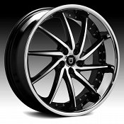 Lexani Artemis Machined Black Chrome Lip Custom Wheels Rims