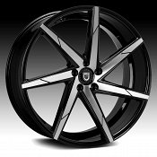 Lexani CSS-7 Gloss Black Machined Custom Wheels Rims