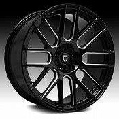 Lexani CSS-8 Gloss Black Milled Custom Wheels Rims