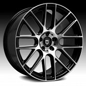 Lexani CSS-8 Gloss Black Machined Custom Wheels Rims