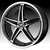 Motegi Racing MR107 107 Gloss Black Machined Custom Rims Wheels