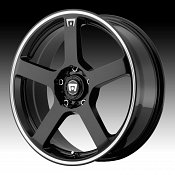 Motegi Racing MR116 Black with Machined Stripe Custom Rims Wheel