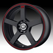 Motegi Racing MR116 116 Matte Black w/ Red Stripe Custom Rims Wh