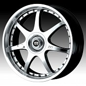 Motegi Racing MR2373 2373 FF7 Silver w/ Machined Lip Custom Rims
