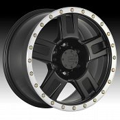 Mamba M18 Matte Black Machined Custom Wheels Rims