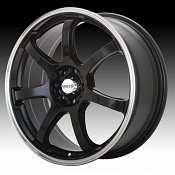 Maxxim Knight KN Gloss Black with Polished Lip Custom Wheels Rim