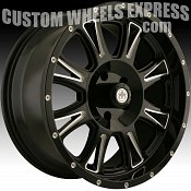 Mayhem Hammer 8050 Black Milled Custom Wheels Rims