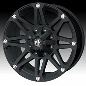 Mayhem Riot 8010 Matte Black Custom Wheels Rims