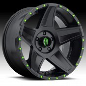 DropStars Monster Energy Edition 648B Black Custom Wheels Rims